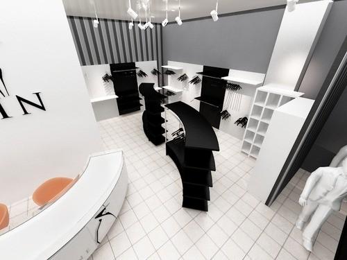 Üzletberendezés tervezés - 3D látványterv